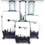 Max A29pb kufr skořepinový cestovní ABS set 3ks Město