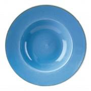 Churchill Super Vitrified Churchill Stonecast Round Wide Rim Bowls Cornflower Blue 277mm