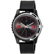 Fastrack Analog Black Round Watch -3114PP03