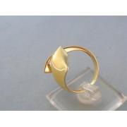 Zlatý dámsky prsteň moderný dvojfarebné zlato zirkón DP58601V