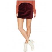 Hudson Jeans The Viper Mini Skirt in Port Port