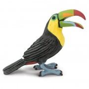 Merkloos Plastic vogel toekan 7cm