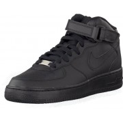 Nike Air Force 1 Mid (Gs) Black, Skor, Sneakers & Sportskor, Höga sneakers, Svart, Unisex, 38