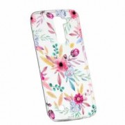 Husa Silicon Transparent Slim Happy Flowers LG G7 ThinQ