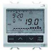 Termostat electronic cu programare zilnica/saptamanala 2 module Gewiss Chorus GW10703, alb