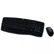 Комплект GENIUS KB-8000X,безжични клавиатура и мишка, кирилизирана клавиатура, 1200dpi, USB, черни