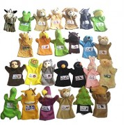 Sofix Hand Puppets Big Animals Soft Toys Learning Toys - Set of 26 - 9 inch/23 cm