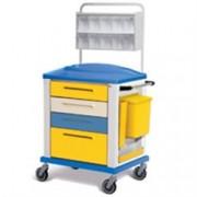 carrello multifunzione standard - 4 cassetti - serratura - 82x64xh.100