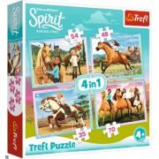 """Trefl Puzzle Slagalica """"4in1"""" Spirit Riding Free (34334)"""