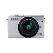 Canon Camara digital reflex canon eos m100 + m15-45 s/ cmos/ 24.2mp/ digic 7/ full hd/ wifi/ nfc/ bluetooth/ blanco