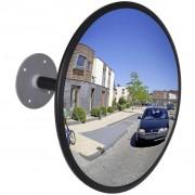 vidaXL Convex lustro magazynowe 30 cm czarny akryl