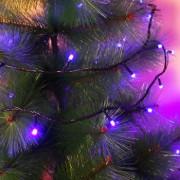 Instalatie de Craciun Flippy Tip Liniara Fir Negru 9 m 100 LED-uri Hexagonale Interconectabila Albastru