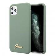 Husa Guess iPhone 11 Pro Max khaki hard case Silicone Vintage Gold