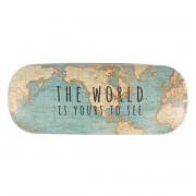 wereld kado - Brillenkoker met vintage wereldkaart | Sass & Belle