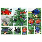 FINDING DORY Christmas Ornament Set - Plastic Shatterproof Ornaments Ranging from 2 to 4