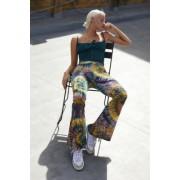 Urban Outfitters Archive - Pantalon évasé en velours tie-dye- taille: S