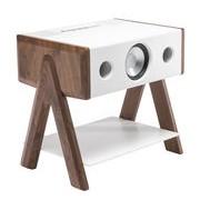 La Boîte Concept Enceinte Bluetooth Cube / Corian® - La Boîte Concept blanc,noyer en bois