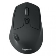 Мишка Logitech M720 Triathlon, оптична (1000 dpi), безжична, USB, черна