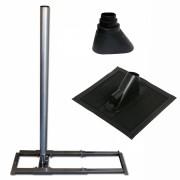 Vizyon Dachsparrenhalter Stahl 48mm Alu Pfanne Pro Set Ziegelrot