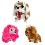 3PCS Christmas Gift for Child Plush Interactive Puppy Dog Toy Walking Barking Pet Kids Pet Toy C