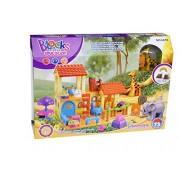 Little Treasures Safari Tree House Building block 73 pcs construction toy set for preschool children playtime