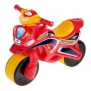 Motocicleta de politie Doloni cu sunete si lumini rosu cu galben