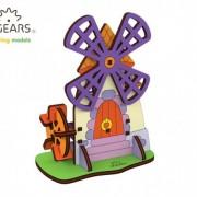 Moara - Puzzle 3D de colorat pentru copii