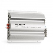 C300.4 Amplificador de 4 canais amplificador de potência automático 1200W PMPO 300W RMS Prata