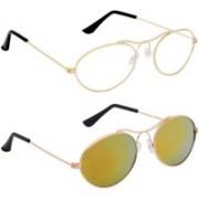 Phenomenal Aviator Sunglasses(Clear, Yellow)