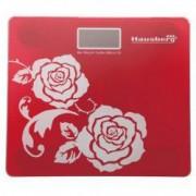 Cantar de baie Hausberg HB 6003 culoare rosu greutate maxima 150 kg