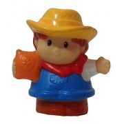 Fisher Price Little People Tractor, Barn, Farm, Farmer Jed 2011 Replacement Figure, Semi Gloss Paint Style