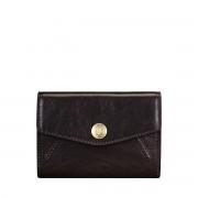 Maxwell-Scott kleine italienische Leder Geldbörse in Dunkelbraun - Fontanelle - Brieftasche, Portemonnaie, Geldbeutel, Kreditkartenetui