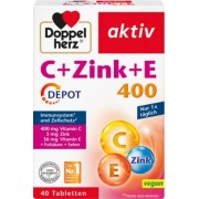 Queisser Pharma GmbH & Co. KG DOPPELHERZ C+Zink+E Depot Tabletten 40 St