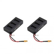 ZicHEXING MJX B6 2pcs Compact & Lightweight 7.4V 1300mAh 25C Li-Poly RC Battery with XT30 Plug Connector for RC Drone Spare Parts