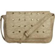 LI LEANE Women Beige Leatherette Sling Bag