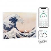 Klarstein Wonderwall Air Art Smart, инфрачервен нагревател, 80 х 60 см, 500 W, сини вълни (HTR10-WdwlS500wWave)