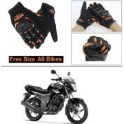 AutoStark Gloves KTM Bike Riding Gloves Orange and Black Riding Gloves Free Size For Yamaha SZ-S