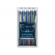Roller cu cerneala SCHNEIDER One Hybrid N, ball point 0.5mm, 4 culori/set - (N,R,A,V)