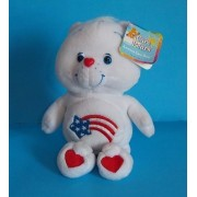 "Care Bears AMERICA CARES Bear 8"" Plush (NEW WITH TAGS!)"