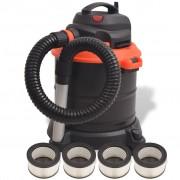 vidaXL Прахосмукачка за пепел, 1200 W 20 L, черно и оранжево
