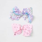 River Island Girls Pink unicorn Jojo bow pack