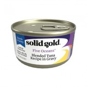 Solid Gold Five Oceans Shreds with Real Tuna Recipe in Gravy Grain-Free Canned Cat Food, 3-oz, case of 12