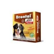 Vermífugo Bayer Drontal Plus 35kg Sabor Carne 2 Comprimidos