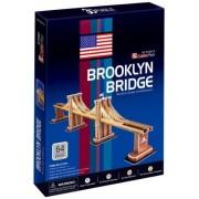 Brooklyn Bridge New York Worlds Great Architecture Series 3D Puzzle NYC Souvenir for Kids Children - 64 pcs by CubicFun