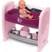 Patut Smoby Co-Sleeper pentru Papusi Baby Nurse 2 in 1