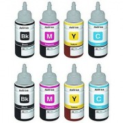Epson L100/L200/L210/L300/L350 4 Colour Ink 2 Set Cyan Magenta Yellow Bk