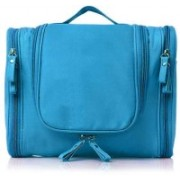 Kuber Industries Canvas Toiletry Kit Bag for Women and Men for Travel, Shaving kit Bag for Men, Travel Pouches for Women for Cosmetics and Makeup (Sky Blue) -CTKTC39001 Travel Toiletry Kit(Blue)
