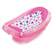 Set cadita si suport de baita Sparkle and Splash – Pink