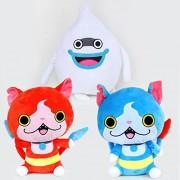 3pcs/set 20cm Cartoon Yo-kai Yokai Watch Jibanyan Komasan Whisper Plush Toy Doll Soft Stuffed Animals Toys