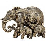 Geen Olifanten dieren beeldje goud 13 cm woondecoratie